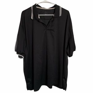4 for $20// Black collared t-shirt
